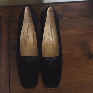 Gently used Salvatore Ferragamo black heels